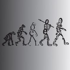 Evolution of Typography by SilverThornz (DevianArt)