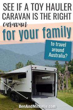 Do you want to travel around Australia but not sure how you're going to get a caravan big enough to fit the whole family, but still bring along the 'toys' that will make your trip the most fun?  That's where toy hauler caravans are awesome. While not hugely popular here in Australia, there are still some Aussie caravan manufacturers that produce them. We've compiled them here... Toy hauler caravans Australia | Toy hauler travel trailers | Toy haulers Australia Toy Hauler Travel Trailer, Camper Trailers, Travel Trailers, Small Caravans, Australian Bloggers, Off Road Camper, Quad Bike, Plan Your Trip, Quad