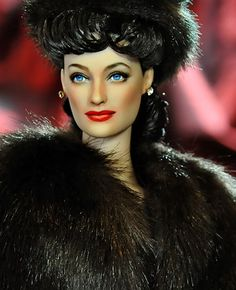 "Joan Crawford doll as ""Mildred Pierce"""