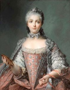 1756 Madame Adelaide pastel probably by Perronneau after Jean-Marc Nattier | Grand Ladies | gogm