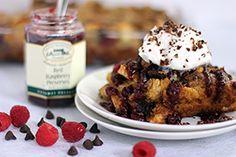Robert Rothschild's Chocolate Raspberry French Toast Casserole...