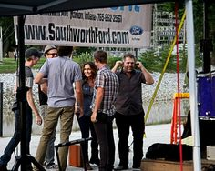 Jessie Brown and the band preparing to get on stage & perform at July FF  Photo taken by: Glen Devitt