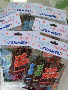 Pop Rocks end of year goody bags