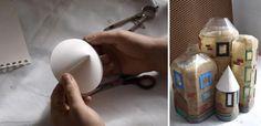 Flaschen mit Klebstoff und Sand beschichten - Bastelprojekte für Kinder