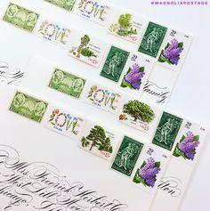 vintage postage stamps vintage wedding stamps vintage wedding postage magnolia postage
