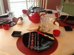 Simple Asian Table Setting For 4