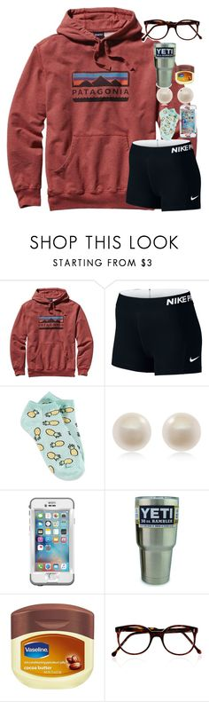 """OORN because I'm actually at home relaxing for once"" by carolinaprep137 ❤ liked on Polyvore featuring Patagonia, NIKE, Forever 21, Links of London, LifeProof and Cutler and Gross"