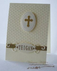 Grand daughter's Christening card
