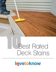 Before you commit to purchasing a stain for your deck, learn more about deck stain ratings. While there is no official, over-arcing rating system, there are . Cedar Deck Stain, Best Deck Stain, Best Wood Stain, Outdoor Wood Stain, Deck Stain Colors, Deck Colors, Paint Colors, Cool Deck, Diy Deck