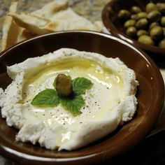Labne is like the Lebanese cream cheese! It's delicious with Lebanese olives and spread on some pita bread. I love eating it as a sid...