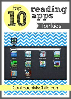 Top 10 Reading Apps for Kids --- Some of these look great for my class.  I'm excited to try them!