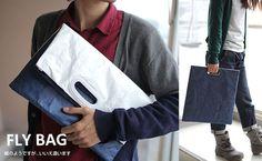 Fly Bag Super Light Multi-Purpose Clutch Bag (Navy/ White) - Hamee