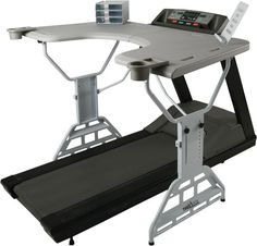 Too busy to work out on a daily basis? Turn to the TrekDesk treadmill desk, which encourages you ...