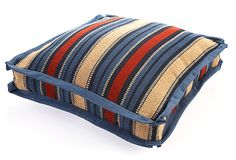 Western Stripe Box 20x20 Pillow, Navy on OneKingsLane.com