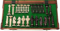 Interesting antique german chess set.