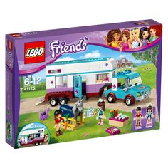 LEGO Friends Horse Vet Trailer 41125 is perfect for equestrian fans. Aunt Sophie the vet mini figure is ready to help any injured ponies. Keep your horses in LEGO Friends Heartlake City healthy with this set.