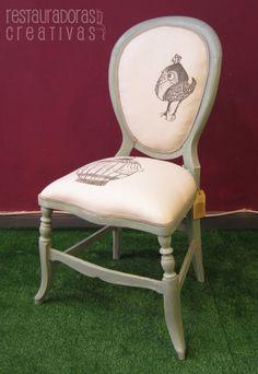 Estado de la silla tras la restauración duck blue