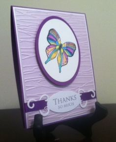 Thank you - Butterfly by sfetterman - Cards and Paper Crafts at Splitcoaststampers