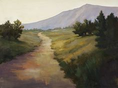 Distant flatirons by Jane Hunt Oil ~ 30 x 40