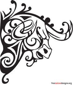 Raging bull tattoo design