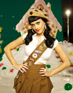 Katy Perry   (California Gurlz)  girl scout.   love the chocolate chip beret