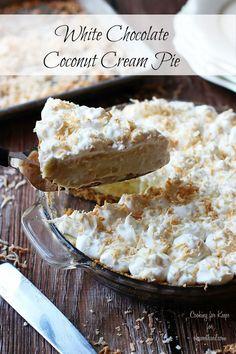 Chocolate Coconut Cream Pie #recipe
