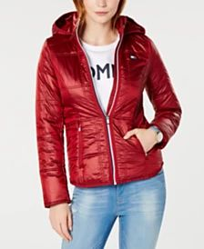 252213be19fa Tommy Hilfiger Shiny Puffer Coat, Created for Macy's & Reviews - Jackets &  Blazers - Women - Macy's