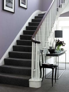 Image result for white stairs with carpet