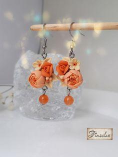 """Set """" flori în asfințit """" - Fimoclas Crochet Earrings, Drop Earrings, Jewelry, Fimo, Jewlery, Jewerly, Schmuck, Drop Earring, Jewels"""
