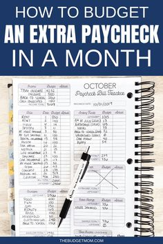 How to Budget an Extra Paycheck in a Month There are some months that have five Fridays, which might lead to an extra payday for you. How do you plan for an extra paycheck? An extra paycheck, doesn't always mean you have extra income to spend freely. Budgeting Finances, Budgeting Tips, Budgeting Worksheets, Budgeting System, Money Tips, Money Saving Tips, Saving Ideas, Managing Money, Life Hacks
