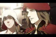 Ezio and Leonardo wow this looks like a screen shot of a real anime!!