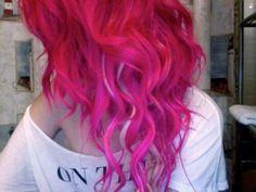 Curly pink hair  #pink #hair