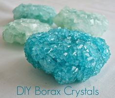 {grow your own crystals} and tint them to your heart's desire! #Diy #Myo #Howto                                                                                                                                                                                 More Grow Your Own Crystals, Growing Crystals, Borax Crystals, Diy Crystals, Alum Crystals, Projects For Kids, Crafts For Kids, Diy Projects, Science Projects