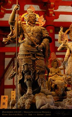 Toji Zochoten 9166 Shitenno (Deva King) of the South, gilded wood AD). Digital Photography, Nature Photography, King Of The South, Way Of The Dragon, Japanese Landscape, Buddhist Art, Buddhism, Kyoto, Digital Image