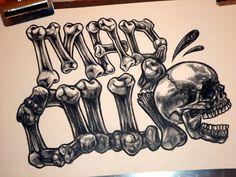 MadOllie 2012 [broken bones] - Black colored pencil on paper