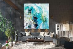 Items similar to Large Modern Wall Art Painting,Large Abstract wall art,painting colorful,xl abstract painting,canvas wall art on Etsy Large Abstract Wall Art, Large Canvas Art, Large Painting, Texture Painting, Large Wall Art, Canvas Wall Art, Painting Canvas, Texture Art, Large Art