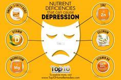 nutrient deficiencies that cause depression