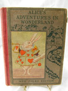 Alice's Adventures in Wonderland. Year: #1904. Country: #US. Illustrations: John Tenniel. Additional Info: Philadelphia Henry Altemus Company Printed edition. #book #cover #art