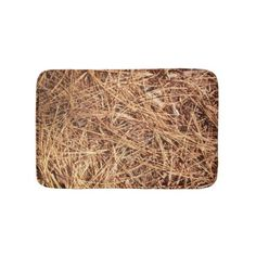 Pine Forest Floor Pine Needles Bathroom Mat - rustic style country natural diy customize personalize
