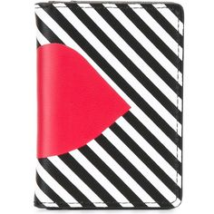 Lulu Guinness 'Stripe Lip' cardholder (83 NZD) ❤ liked on Polyvore featuring bags, wallets, black, lulu guinness bag, lulu guinness, lulu guinness wallet, polyurethane bags and stripe bag