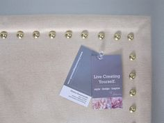 Live Creating Yourself.: DIY Nailhead Bulletin Board