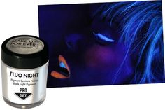 coolest stuff ever any makeup will glow in black light...by make up forever