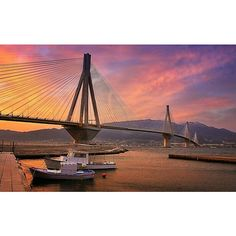 Rio-Antirrio bridge, GREECE  *** The Rio-Antirrio bridge, officially the Charilaos Trikoupis Bridge after the statesman who first envisaged it, is one of the world's longest multi-span cable-stayed bridges and the longest of the fully suspended type. It crosses the Gulf of Corinth near Patras, linking the town of Rio on the Peloponnese peninsula to Antirrio on mainland Greece by road
