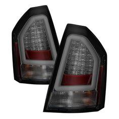 05 06 07 Chrysler SRT8 300C LED Black Tail Lights Lamps
