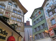 #Lucerne is known for its colorful, beautiful building facades. So stunning!