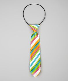 Look at this Blue & Orange Stripe Tie on #zulily today!