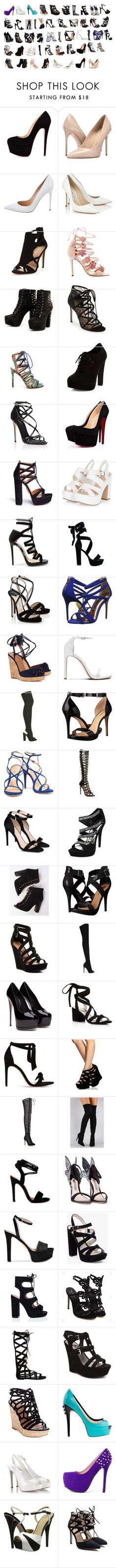 """""""Heels Shopping"""" by musicmythicangel ❤ liked on Polyvore featuring Massimo Matteo, Gianvito Rossi, Jimmy Choo, Marchesa, Pour La Victoire, New Look, Dolce&Gabbana, Aquazzura, Ted Baker and adidas Originals"""