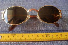 1 rot goldfarbene Sonnenbrille Nr.128 Brille Mode