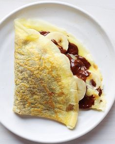 Chocolate-Hazelnut and Banana Crepe:  Make the favorite French dessert of crepes at home using our recipe for Simple Crepes. Fill them with the classic combination of chocolate-hazelnut spread and sliced bananas for a treat reminiscent of Parisian creperies.