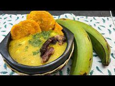 sopa de patacón - como hacer sopa de patacones deliciosa fácil y rápida - como hacer una sopa casera - YouTube Colombian Food, Hummus, Curry, Ethnic Recipes, Youtube, Homemade Soup, Cooking Recipes, Sausages, Breakfast